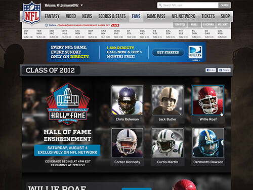 NFL | 2012 Hall of Fame